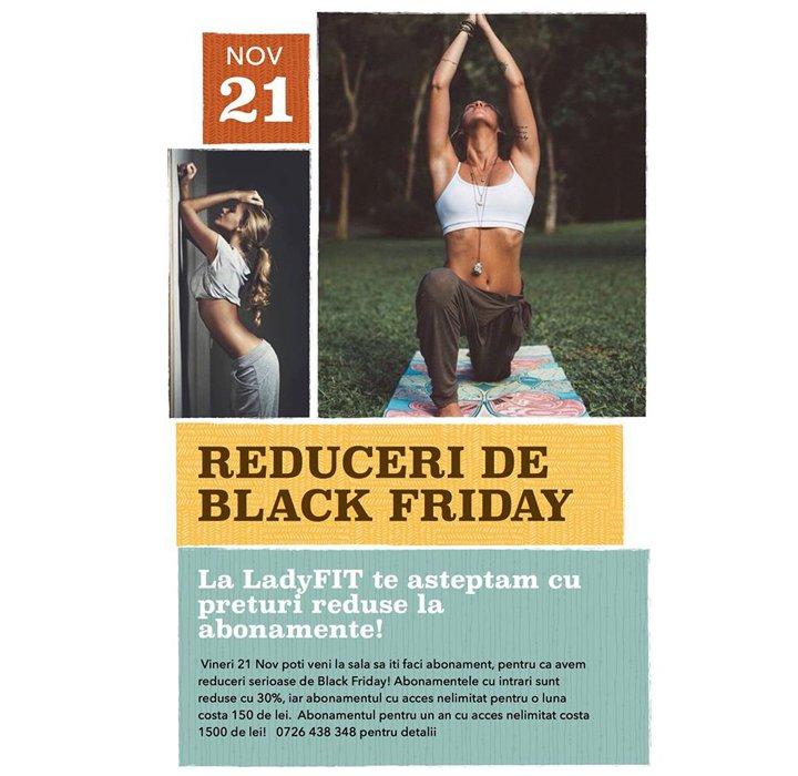 Black Friday timp de o săptămână la LadyFIT!